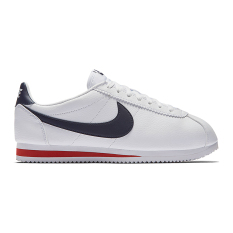 Harga Nike Classic Cortez Leather Sepatu Sneakers White Midnight Navy Gym Red Satu Set