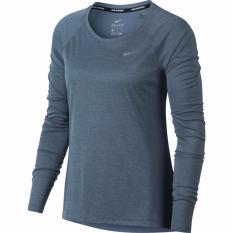 Jual Beli Nike Dry Miler Women S Running T Shirts Abu Abu Baru Jawa Barat