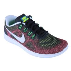 Promo Nike Free Run 2017 Sepatu Lari Black Black Hot Punch Chlorine Blue Nike