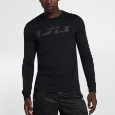 Nike Sweater On Pria Bola Keranjang Pria Kaos Lengan Panjang (882185-010)