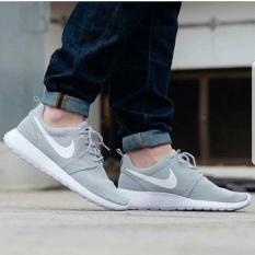 Nike Roshe Run  Grey  Premium Original / Sepatu Keren / Sepatu Fitness - Xxvvtz