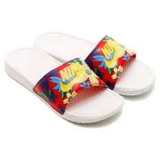 Nike Women Benassi JDI Print  Sendals 618919176-Sandal wanita-Sail/UniversityRed/TourYellow