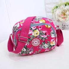Gaya Korea tas selempang Mini tas kecil nilon kain kanvas Ibu belanja Tas HP Dompet Uang Receh minimalis casual tas wanita Tas