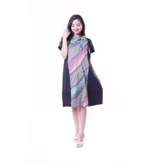 Spesifikasi Ning Ayu Baju Hamil Dress Batik Menyusui Modis Btk 144 Pink Baru