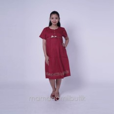 Cara Beli Ning Ayu Baju Hamil Dress Hamil Incess Pita Bunga Bordir Dro 875