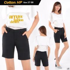 Beli Nusantara Jeans Celana Pendek Wanita Berbahan Cotton Import Kualitas Terjamin Bagus Jahitan Rapi Hitam Terbaru