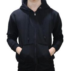 NJ - Jaket Fashion – Hoodie Zipper – Unisex – Hitam