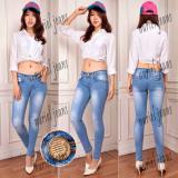 Harga Nj Nuriel Jeans Celana Jeans Wanita Premium Quality Skinny Regular Sobek Biru Danau Jeans Wanita Indonesia