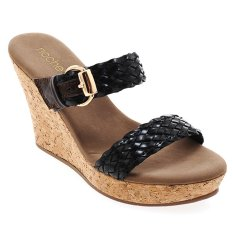 Jual Noche Shoes Wedge Marielle Hitam Branded Original
