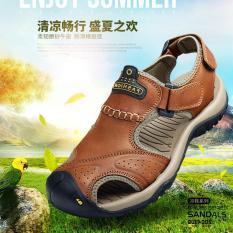 Jual Non Slip Laki Laki Fashion Kolam Waktu Luang Nyaman Dan Lembut Menolak Memakai Sandal Hiking Intl Murah Tiongkok
