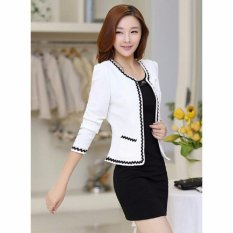 Harga Nosh Fashion Blazer Eve Putih With Lace Long Sleeve Nosh Ori