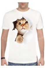 Harga Nsclothing Kaos 3D Cat Brown Putih Satu Set