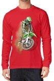 Spesifikasi Nsclothing Kaos 3D Motor Cross Lengan Panjang Merah Merah Dan Harga