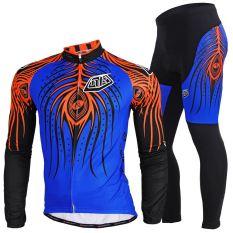 NUCKILY Pria Phoenix Mata Bersepeda Jersey Long Suit Kecil