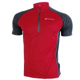 Jual Nuckily Pria S 3 Quarter Zipper Mesh Line Fabric Light Bersepeda Jersey Merah Kecil Tiongkok