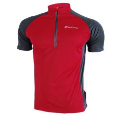 Katalog Nuckily Pria S 3 Quarter Zipper Mesh Line Fabric Light Bersepeda Jersey Merah Kecil Terbaru