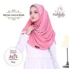 Toko Nuhijab Shawl Instan Aufa Pink Terlengkap Jawa Barat