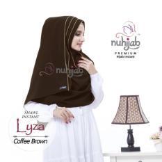 NUHIJAB - SHAWL INSTAN LYZA - COFFEE BROWN