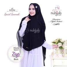 Harga Khimar Hijab Syari Nuhijab Ziya Black Nuhijab