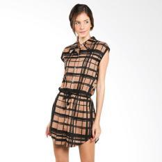 Nulu Letty NL 1301 Brown Mini Dress