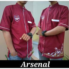 Nuranitex Baju Koko Arsenal Bordir Elegan - Merah