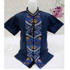 Harga Nuranitex Baju Koko Atasan Anak Bordir Elegan Mewah Biru Terbaik