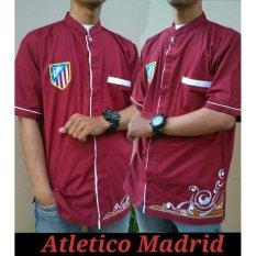 Nuranitex Baju Koko Atletico Madrid Religi Elegan - Merah