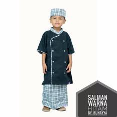Nuranitex Baju Koko Celana Sarung Salman Anak - Hitam