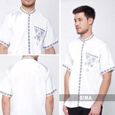 Nuranitex Baju Koko Elegan Embroidery - Putih