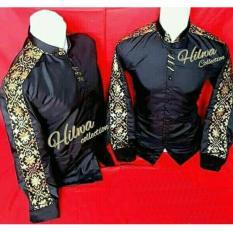 Nuranitex Baju Koko Modern Batik - Hitam Elegan