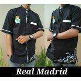 Beli Nuranitex Baju Koko Real Madrid Bordir Elegan Hitam Nuranitex Busana Muslim Asli