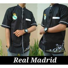 Nuranitex Baju Koko Real Madrid Bordir Elegan - Hitam