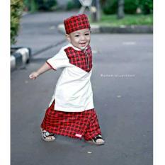Nuranitex Baju Koko Sarung Celana Royyan Anak Trendy - Merah