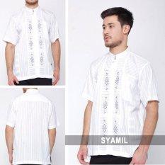 Nuranitex Baju Koko Syamil Elegan Embroidery - Simpel