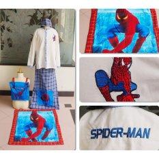 Spesifikasi Nuranitex Busana Muslim Baju Koko Sarung Anak Spiderman Biru Murah