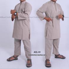 Nuranitex Gamis Stelan Muslim ikhwan Elegan - ACL03