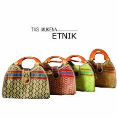 Nuranitex Tas Mukena Songket Etnik - Coklat
