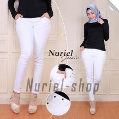 Nuriel  Jeans – Celana Jeans Wanita – Premium Quality – Skinny Putih