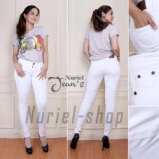 Jual Nuriel Jeans Celana Jeans Wanita Premium Quality Street Putih Grosir