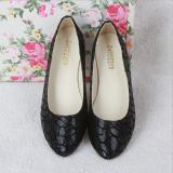 Perawat Wanita Flat Sandal Hitam Balerina Warna Campuran Kasual Fashion Sepatu Sneakers D85 Internasional Oem Diskon