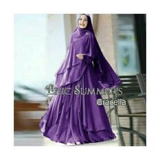 Nurul Collection-Baju muslim wanita /Gamis syari polos /Gamis Syari murah/Gamis Ceruty Polos Tiga Layer/Gamis busui/Gamis premium Polos/Gamis Syari Gracella