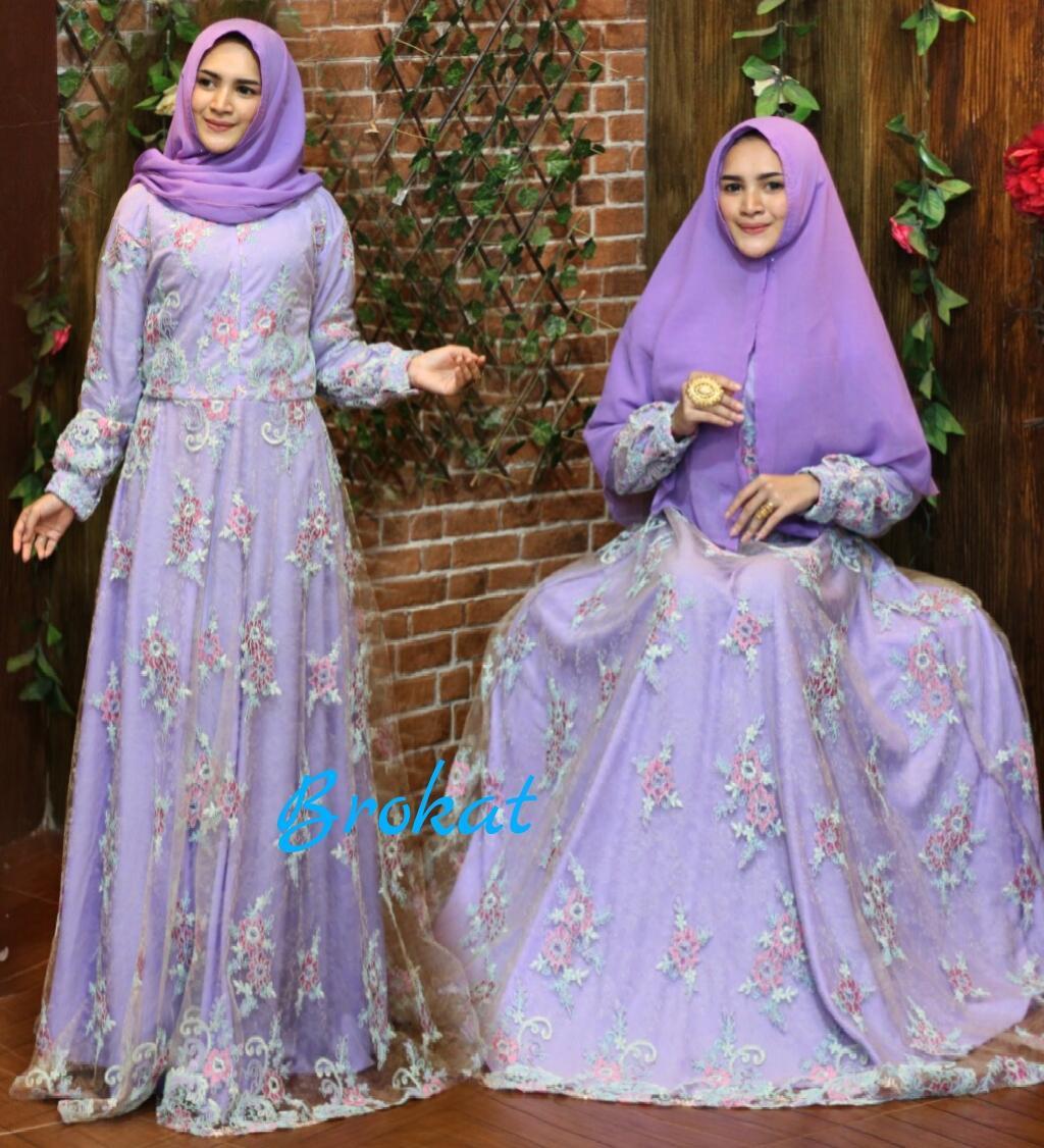 Diskon Nurulcollection Baju Gaun Dress Murah Gamis Syari Brokat