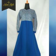 Nusae Hijab Gamis (Jilbab Syar'ie) Katun Jepang + Balotelli Blue