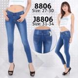 Beli Nusantara Jeans Celana Legging Wanita Berbahan Denim Jahitan Rapi Bagus Murah Biru Yang Bagus