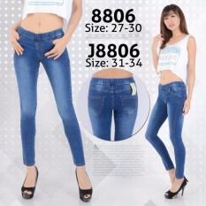 Harga Nusantara Jeans Celana Legging Wanita Berbahan Denim Jahitan Rapi Bagus Murah Biru Origin