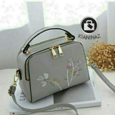 Diskon Nwf Tas Wanita Sling Bag Korean Style Milano Bordier Double Zip With Tassel Tas Selempang Korean Style