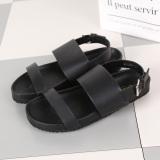 Beli Sepatu Kulit Teplek Mama Musim Panas Baru Perempuan Sandal Summer Nyaman Datar Hitam Pake Kartu Kredit