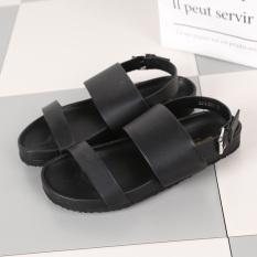 Beli Sepatu Kulit Teplek Mama Musim Panas Baru Perempuan Sandal Summer Nyaman Datar Hitam Cicil