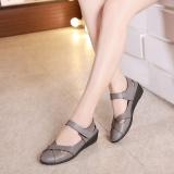 Spesifikasi Sepatu Sandal Wanita Sol Datar Berongga Tidak Kedap Anti Selip Abu Abu Lengkap Dengan Harga
