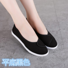 Jual Putih Putih Flat Shoes Kecantikan Divisi Sepatu Kerja Sepatu Suster Datar Dengan Hitam Branded